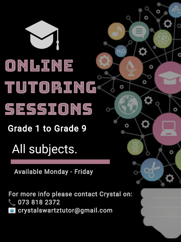 Online Tutoring Sessions Available
