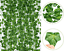 thumbnail 3 - Artificial Hanging Plant Fake Vine Ivy Leaf Rose Greenery Garland Party Weddin