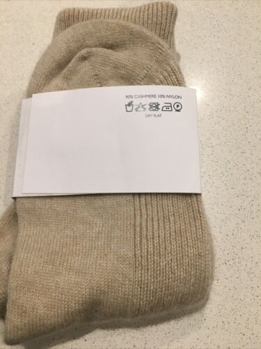 Johnstons Of Elgin Pure Cashmere Socks Pale Pink Beige Nude Thermal Warm Luxury