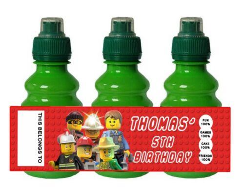 PERSONALISED Lego Friends FRUIT SHOOT BOTTLE LABEL Party Bag Fillers
