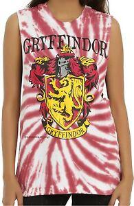 1ecc8f66 Harry Potter Gryffindor Tie Dye Muscle Tank Top ~Warner Brothers ...