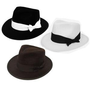 Il Adulto Cappello da Gangster 1920 S Costume di Feltro Al Capone ... 1d9aab6bc485
