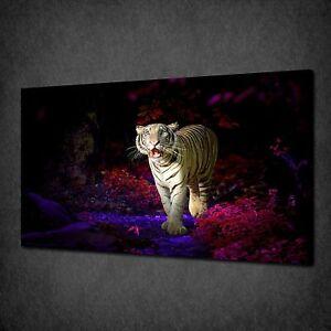 Impresión Bosque Listo Colgar Para Por Caminando Foto Lona Arte Pared El Tiger De 6qzWOpwtxB