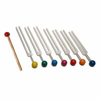 7 Chakra Tuning Forks with removable color ball handles