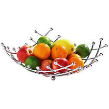 APOLLO FRUIT BASKET BOWL VEGETABLE RACK CHROME STORAGE STAND HOLDER APPLE ORANGE