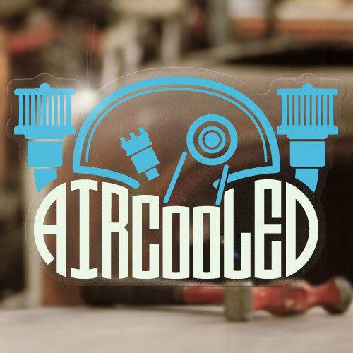 "Aircooled engine sticker decal bug beetle bus splitscreen MOON 4.75/"" blue"