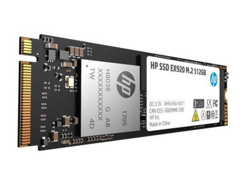 SSD HP EX920 M.2 512GB PCIe 3.0 x4 NVMe 3D TLC NAND Internal Solid State Drive