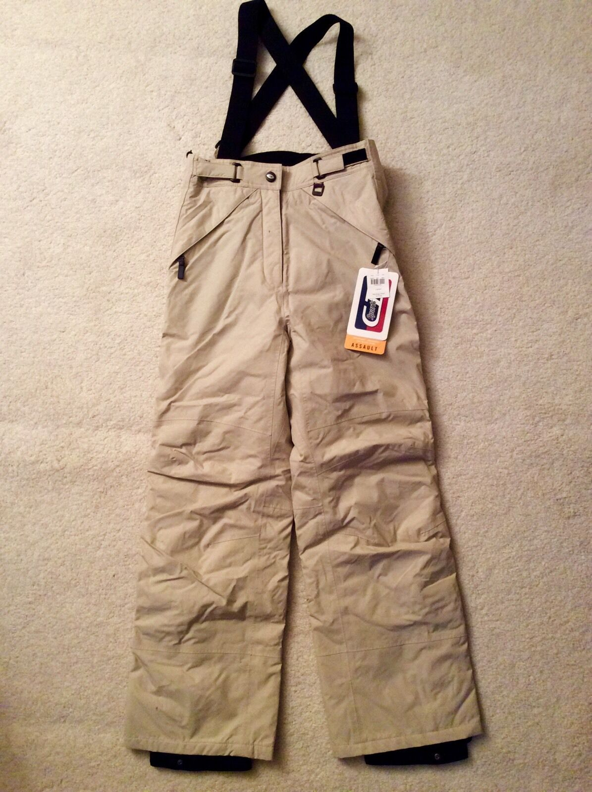 NWT Top Of The Line CB SPORTS Women's Beige Ski Snowboard Insulated Pants Size M