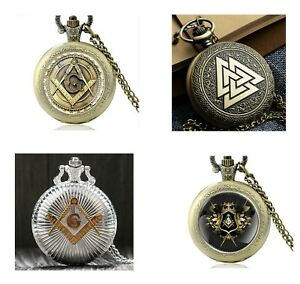 9b0048abe Image is loading MENS-MASONIC-POCKET-WATCH-CHAIN-FREEMASONS-VINTAGE-WATCHES-