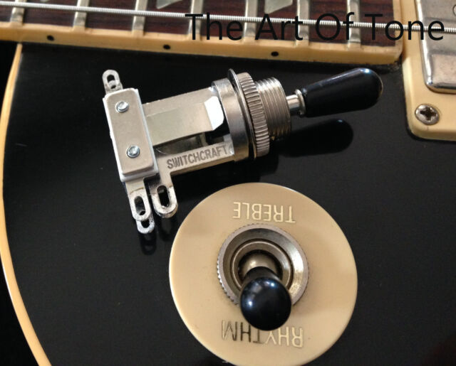 Switchcraft SHORT Frame 3-way Toggle Switch (w/ Black Tip) Epiphone® Les Paul®
