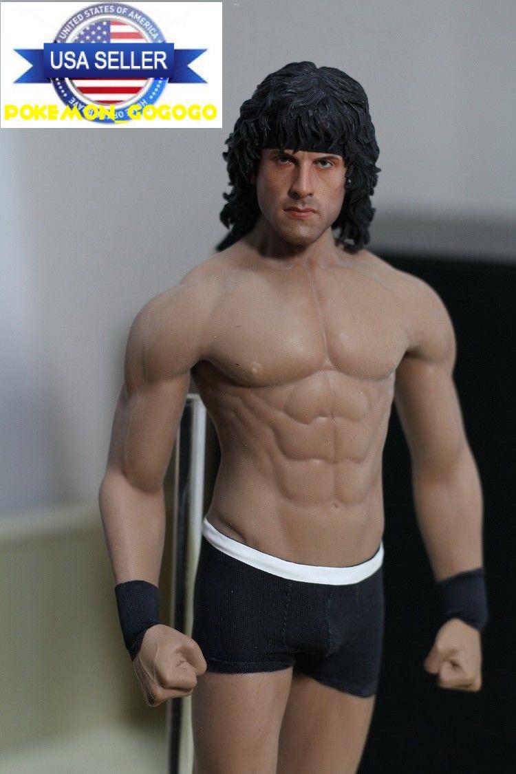 1 6 Sylvester Stallone Rambo con Phicen M33 sin costuras muscular masculino figura Set Usa