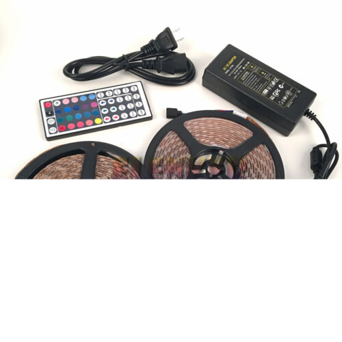 EK 10M 5050 LED Strips RGB Light Full Kit with 44Key Remote 12V 6A Power Supply