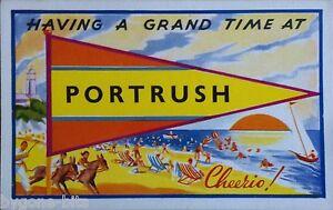 PORTRUSH-CO-ANTRIM-POSTCARD-1950-039-s-IRISH-NORTHERN-IRELAND