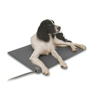 KH Mfg Deluxe Lectro-Kennel Heated Dog Cat Pet Pad Mat Bed Medium with Cover