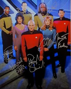Star Trek The Next Generation Cast Signed 8x10 Autographed Photo Reprint