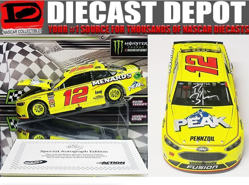 AUTOGRAPHED AUTOGRAPHED AUTOGRAPHED RYAN BLANEY 2018 CAN-AM DUEL WIN RACED VERSION FORD FUSION 1 24 e455fe