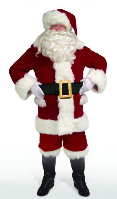 Amazing Adult DARK VELVET Overalls Deluxe SANTA SUIT Costume XL