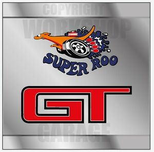 Ford-XW-GT-SUPER-ROO-GT-METAL-LOOK-Decal-Stickers