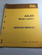 Fiat Allis FR7, FR9, FR10, FR12, FR15 Wheel Loader Axles Service Manual
