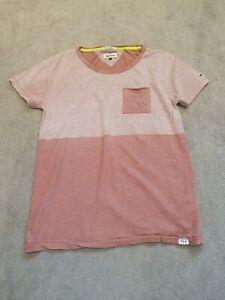 Tommy-Hilfiger-Denim-T-Shirt-Size-Small-1985-Orange-Round-Neck-Short-Sleeve