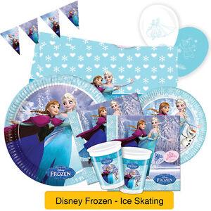 Disney-FROZEN-Ice-Skating-Birthday-PARTY-RANGE-Tableware-Decorations-Anna-Elsa