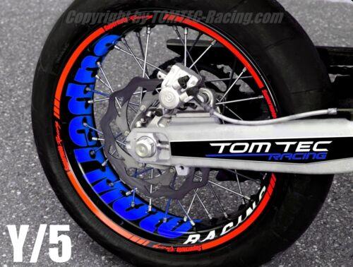 Wheel Sticker Supermoto Yamaha XT 660 X WR 125 250 450 TT DT YZ YZF Rim Stripes