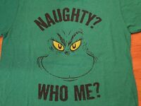The Grinch Dr. Seuss Grinch naughty? Who Me? T-shirt Men's Size: X-large