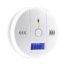 LCD CO Carbon Detector Monoxide Poisoning Sensor Alarm Warning Tester Household