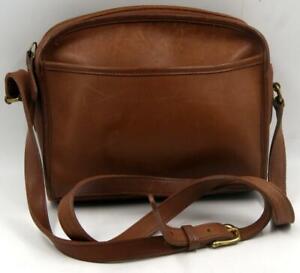 Vintage-Coach-E7M-9087-Brown-Leather-Women-039-s-Shoulder-Crossbody-Messenger-Bag