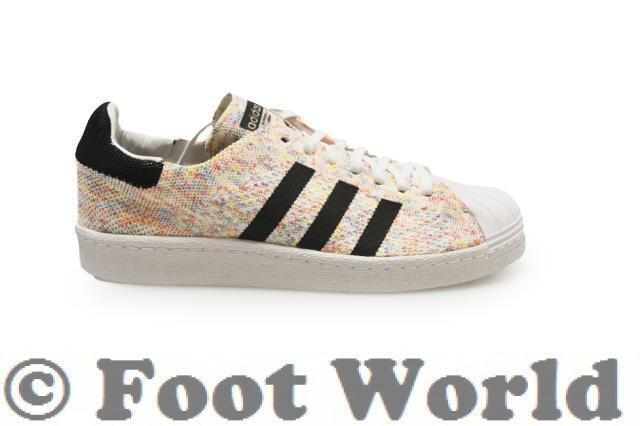 Mens Adidas Superstar 80s Primeknit Pack *RARE*  - Tr S75845 - White Multicolour Tr - efc66f