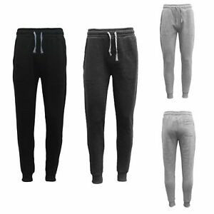 New-Men-039-s-Unisex-Fleece-Lined-Sweat-Track-Pants-Casual-Trackies-Suit-Slim-Cuffed