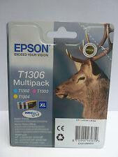 Epson T1306 Cartucho Stag XL capacidad 30.3ml C/M/Y ref C13T13064010 [paquete de 3]