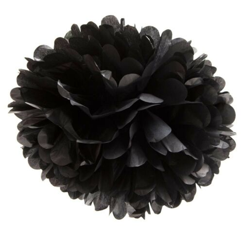 "Black 16/"" Puff Ball Decoration"