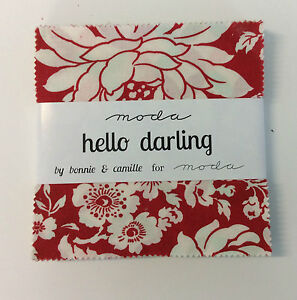 Hello-Darling-by-Bonnie-amp-Camille-fabric-Charm-Squares-42-x-5-034-squares-Moda