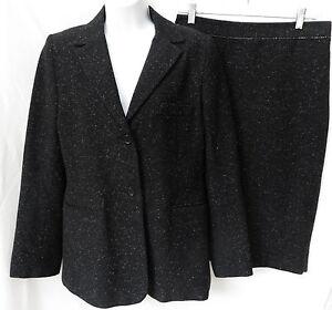 c0139c59f76 Image is loading BCBG-MAXAZRIA-COLLECTION-Womens-Black-Wool-Silk-Blazer-