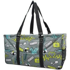 Nurse Medical Doctor NGIL Canvas Mega Zipper Top Shopping Utility Tote Bag