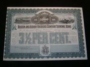 Boston and Albany Railroad Company Bond Certificate