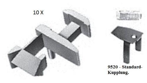 FLEISCHMANN 10 X 9520 KUPPLUNGS SÄTZE MIT FEDER /& ABDECKUNG