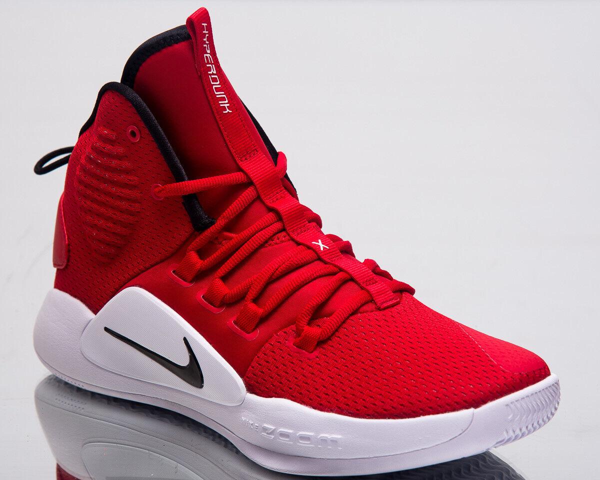 Nike Hyperdunk X TB di pallacanestro alle Scarpe UNIVERSITY Rosso Nero Bianco AR0467-600