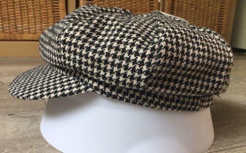 Femmes Fancy Dress Hat Cap deux 2 Tone années 1970 Années 1980 SKA Blondie Noir Blanc Nouveau