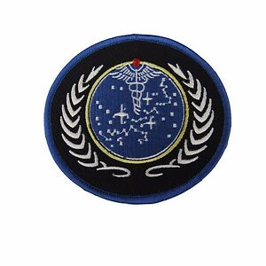 Image is loading Star-Trek-United-Federation-of-Planets-Symbol-Embroidered-  sc 1 st  eBay & Star Trek United Federation of Planets Symbol Embroidered Patch | eBay