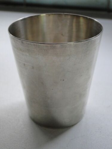 STERLING SILVER CUP FULLY MARKED RUSSIAN//POLISH 1890 SIMPLE SHAPE