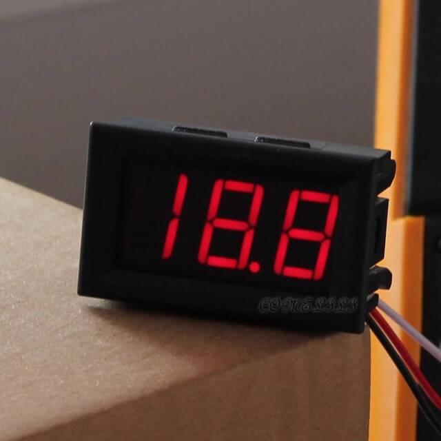 1PCS DC 0-30V Red LED 3 Digital Display Voltage Voltmeter Panel Motorcycle #1