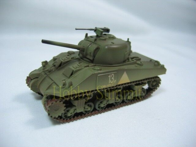 1/72 US WWII  SHERMAN  M4  Tank  6th Armored Division !  Finished Painted Model