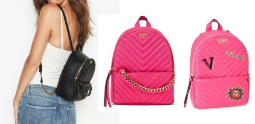 Victoria/'s Secret Pebbled V-Quilt Small City Backpack NWT