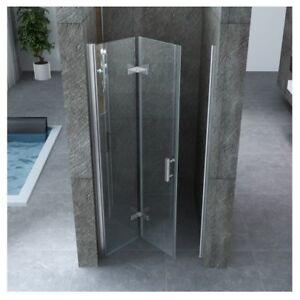 Porta doccia nicchia vetro temperato 8mm trasparente a libro h195 da 70 a 100 1 ebay - Porta a libro vetro ...