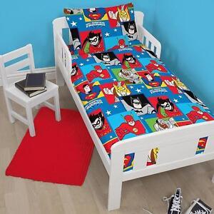 DC-Superfriends-034-amis-034-Ensemble-de-Housse-couette-lit-Boys-Toddlers-chambre
