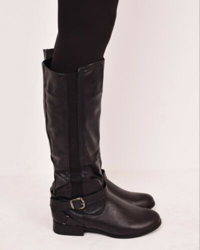 Ladies Womens Winter Flat Walking Knee High Boots Casual Fashion Zip Shoes Sizes