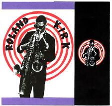 ROLAND KIRK  POSTCARD, BADGE & STICKER. Jazz.