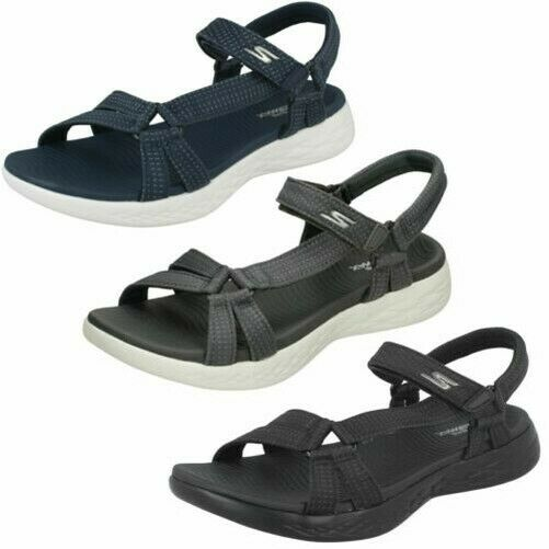 mujer skechers casual sandals strips brilliancy 15316